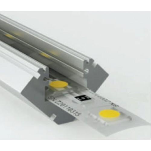 Perfil angulo aluminio anodizado 45 19x19mm para tiras - Perfil aluminio anodizado ...
